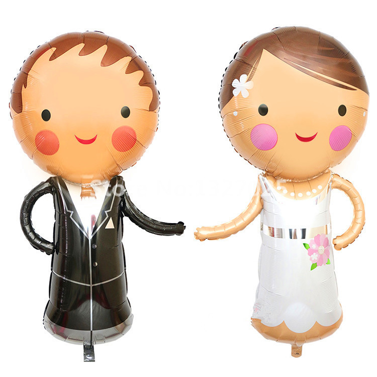 1pcs-lot-Wedding-Bride-and-Groom-Dress-Big-Foil-Balloons-suit-for-wedding-party-balloon-Large