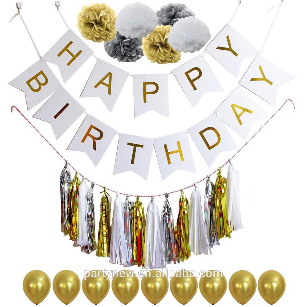 Hot-Selling-gold-glitter-fishtail-Happy-Birthday