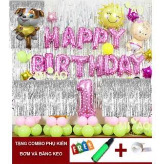 Sét bóng trang trí sinh nhật năm chó