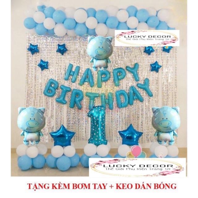 Set Trang Trí Sinh Nhật Cho Bé HEO