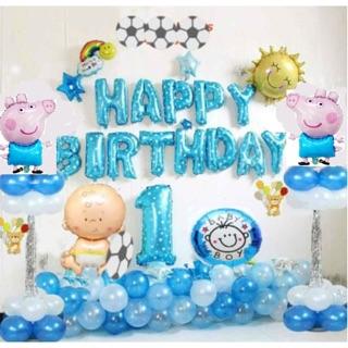 Set bong bóng sinh nhật thôi nôi bé tuổi